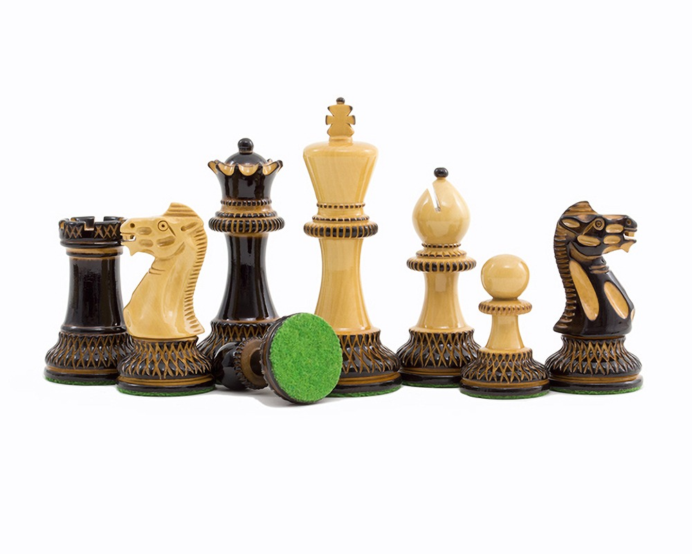 Burnt Parker Chessmen 4 inch