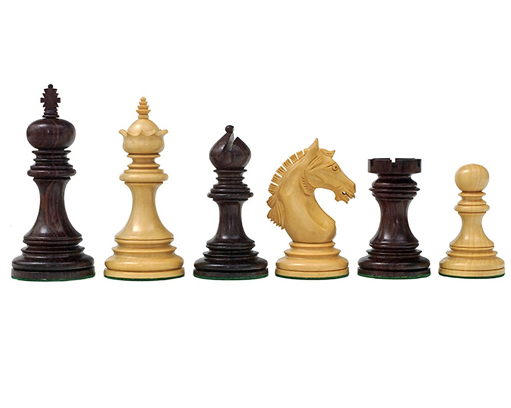 The Garvi 4 inch Rosewood Chessmen