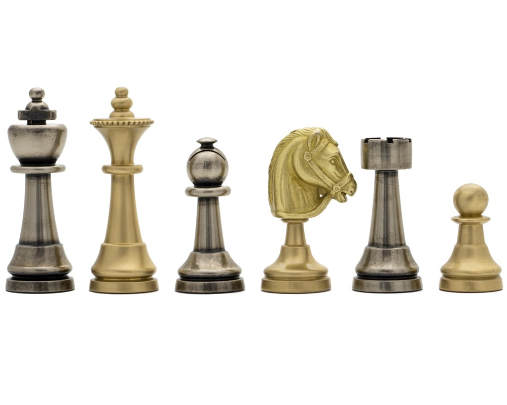The Turin Metal Chess Men by Italfama