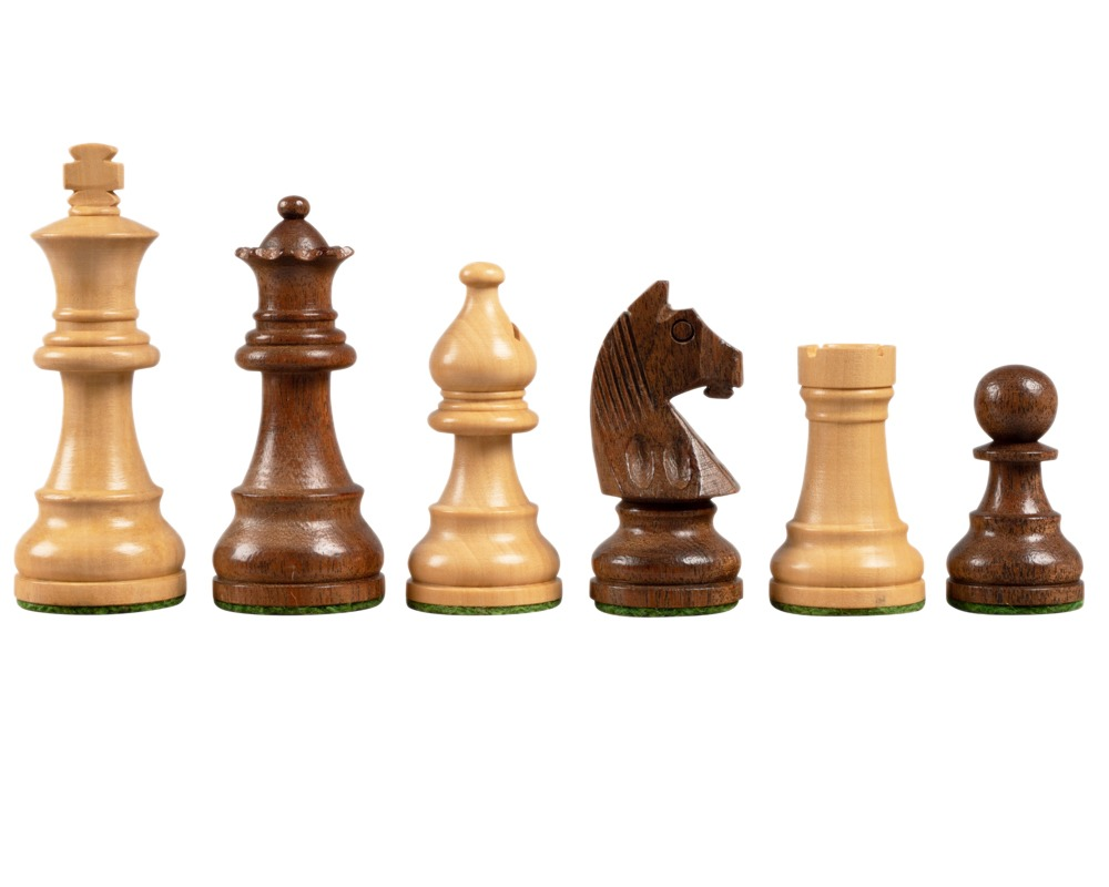 Down Head Acacia 3 inch chessmen