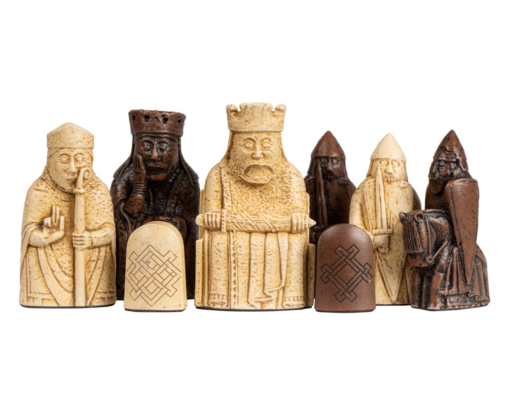 The Regency Chess Isle of Lewis Official Chessmen - Medium Size 2.75 inch