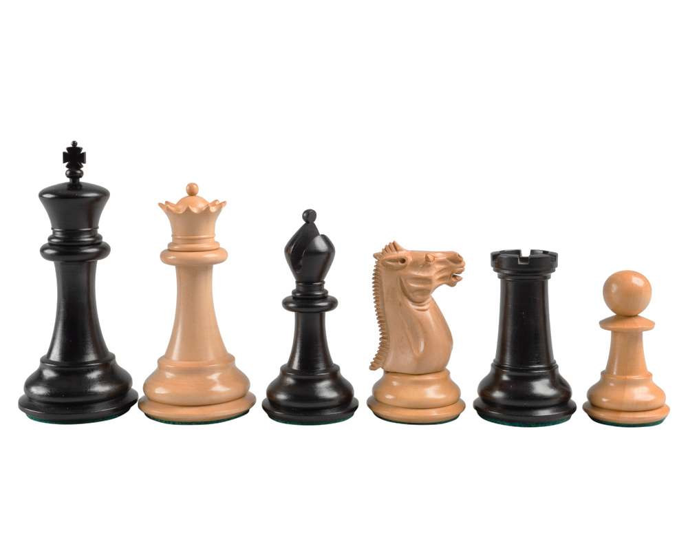Reproduction Staunton Ebony Chessmen 1849 Model 4""