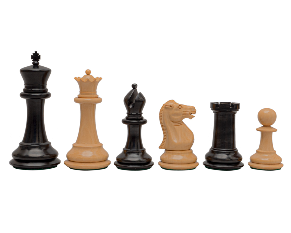 Reproduction Staunton Ebony Chessmen 1849 Model 4.4 inch King