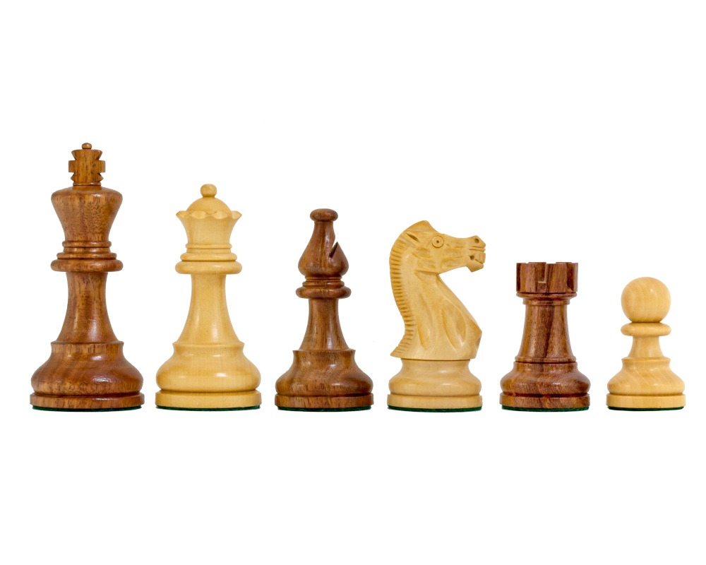 American Staunton Chessmen in Sheesham 3.75 Inches