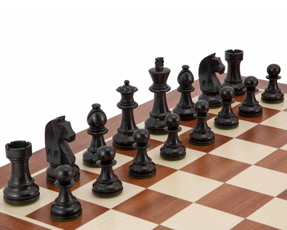 Down Head Black Grand Championship Chess Set