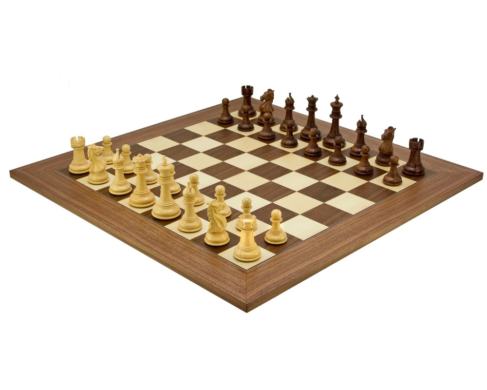 Madrid Grand Sheesham and Walnut Luxury Chess Set