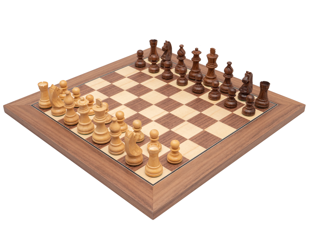 Down Head Classic Sheesham Deluxe Chess Set