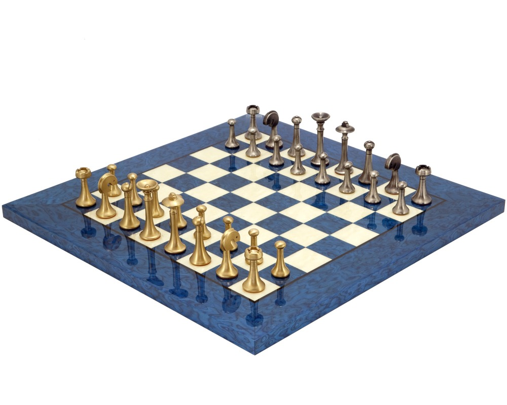 Blue Metropolis Chess Set