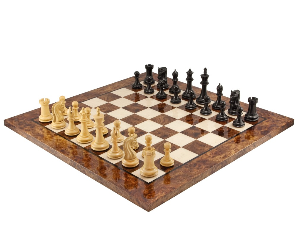 Canterbury Knight Ebony Luxury Chess Set