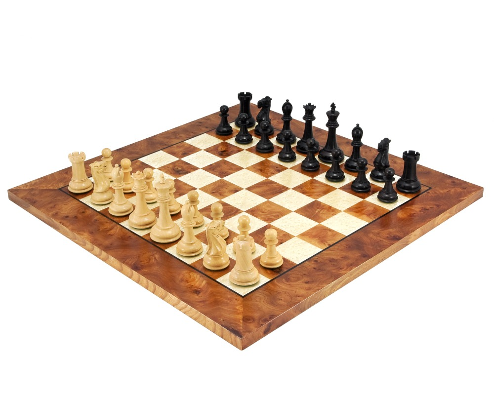 Victoria Burl Chess Set