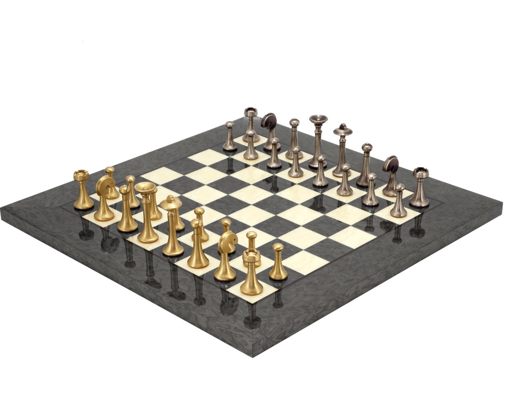Grey Metropolis Chess Set