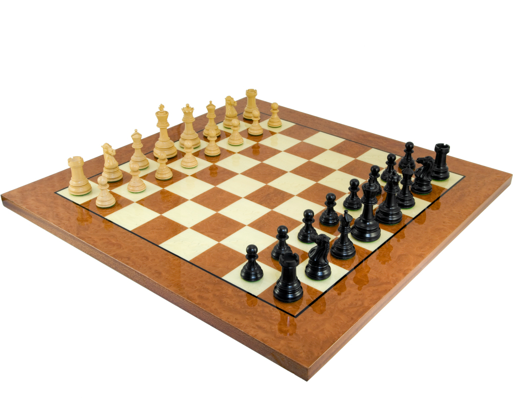 Cheltenham Ebony and Rootwood Grand Chess Set