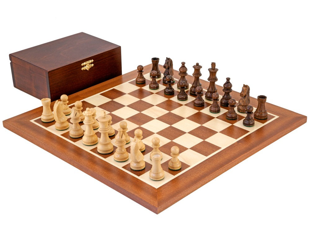 Down Head Sheesham Championship Chess Set