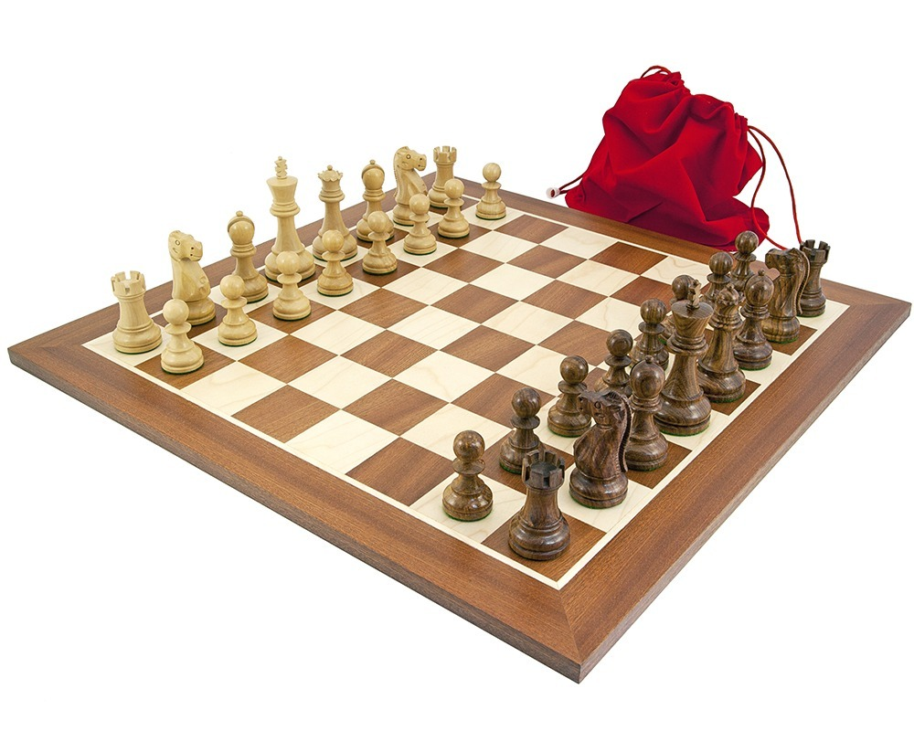 Jacob Knight Sheesham & Mahogany Chess Set