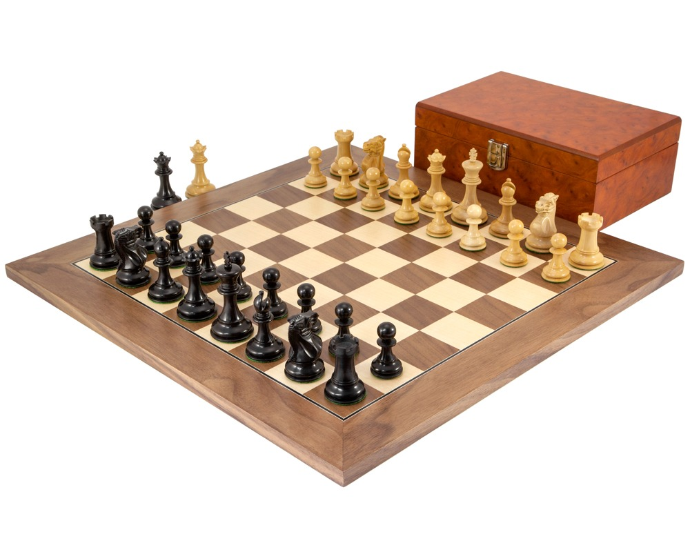 Highgrove Walnut Chess Set with Case