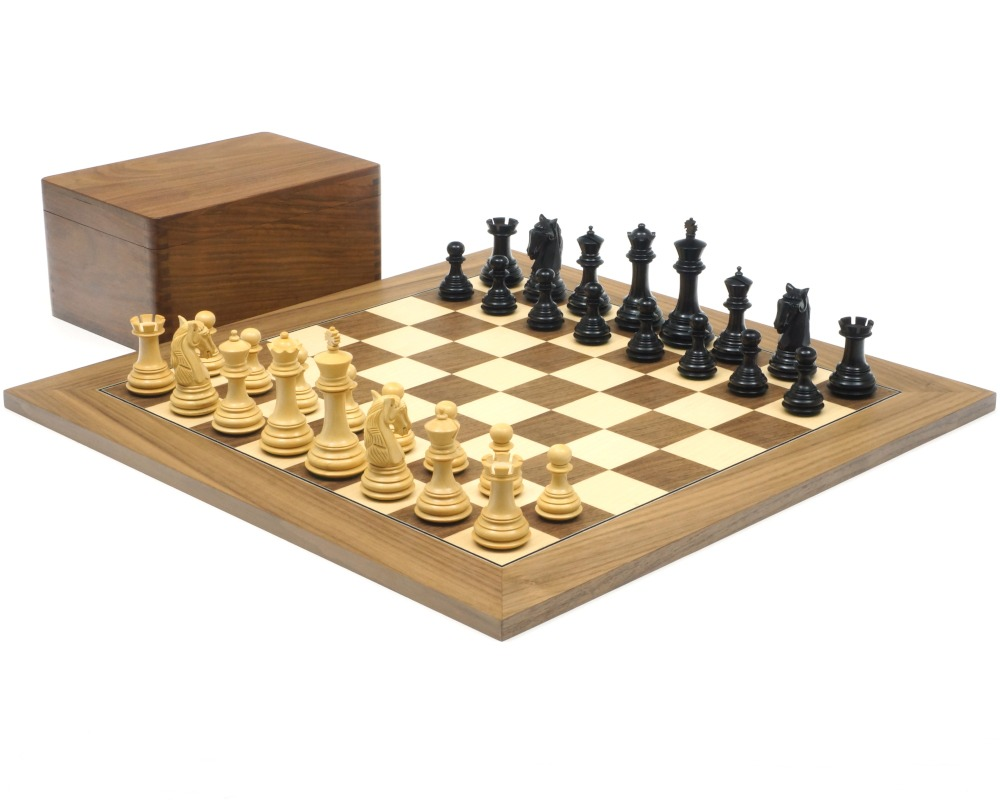 The Gambit Walnut Chess Set