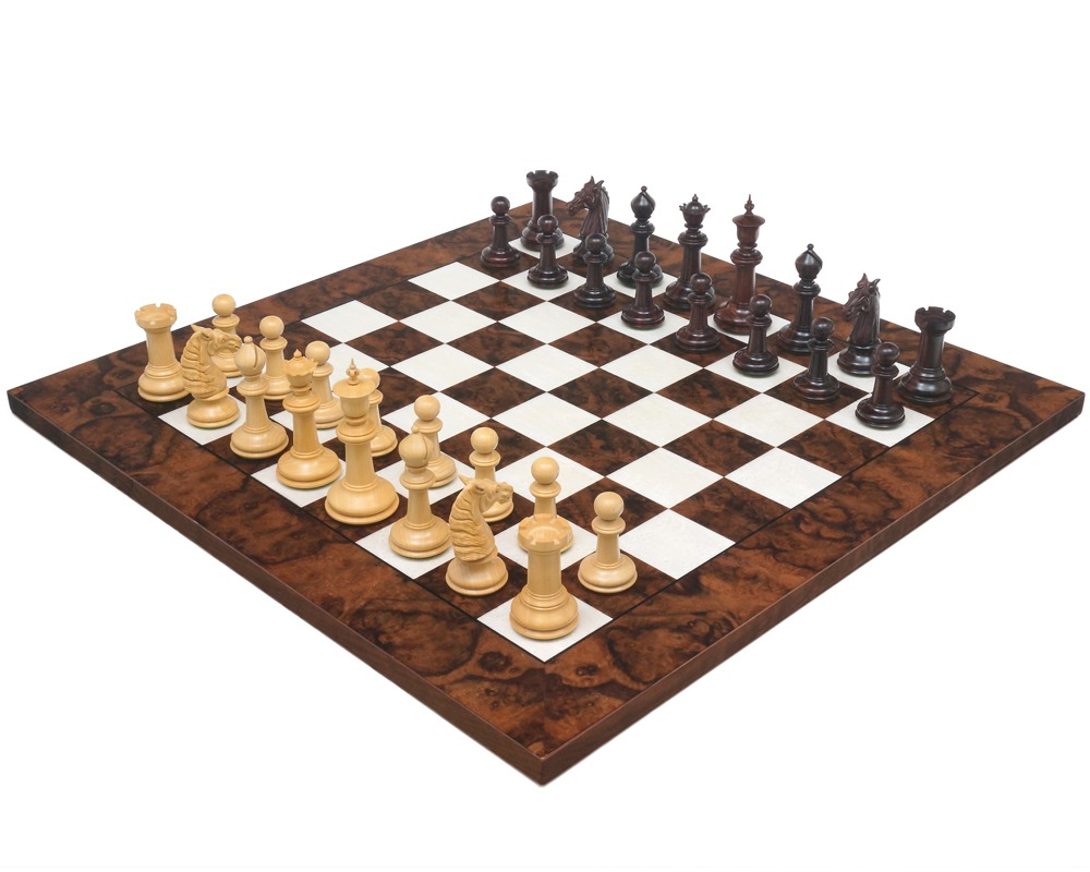 Classic Staunton Rosewood & Dark Walnut Bath Series Grand Chess Set