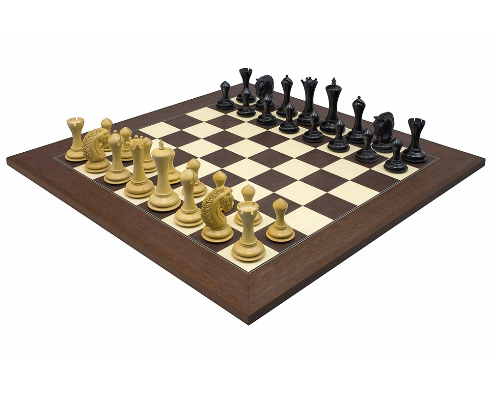 The Empire Knight Ebony Palisander Chess Set