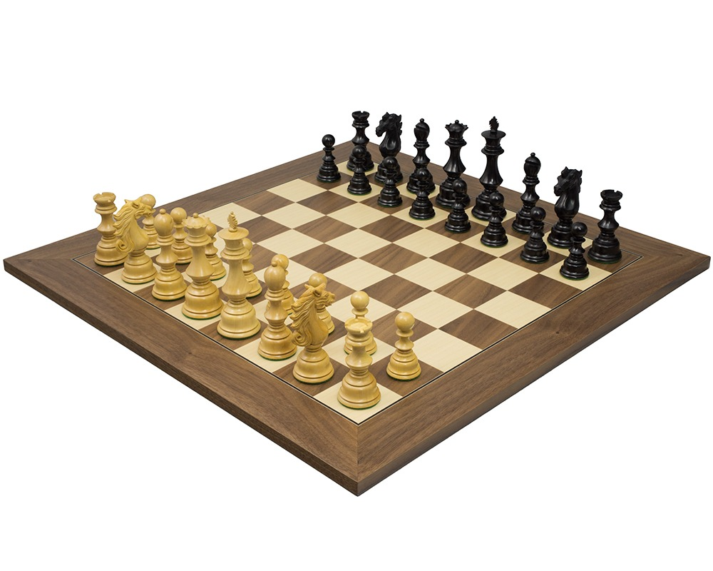 The sun tzu luxury ebony walnut chess set rcpb312 the regency chess company - Ornate chess sets ...