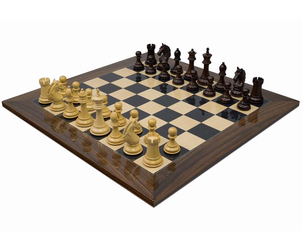 The Stretford Knight Luxury Rosewood Chess Set