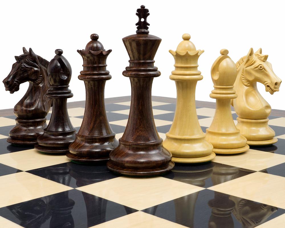 The Stretford Knight Luxury Rosewood Chess Set Rcpb314