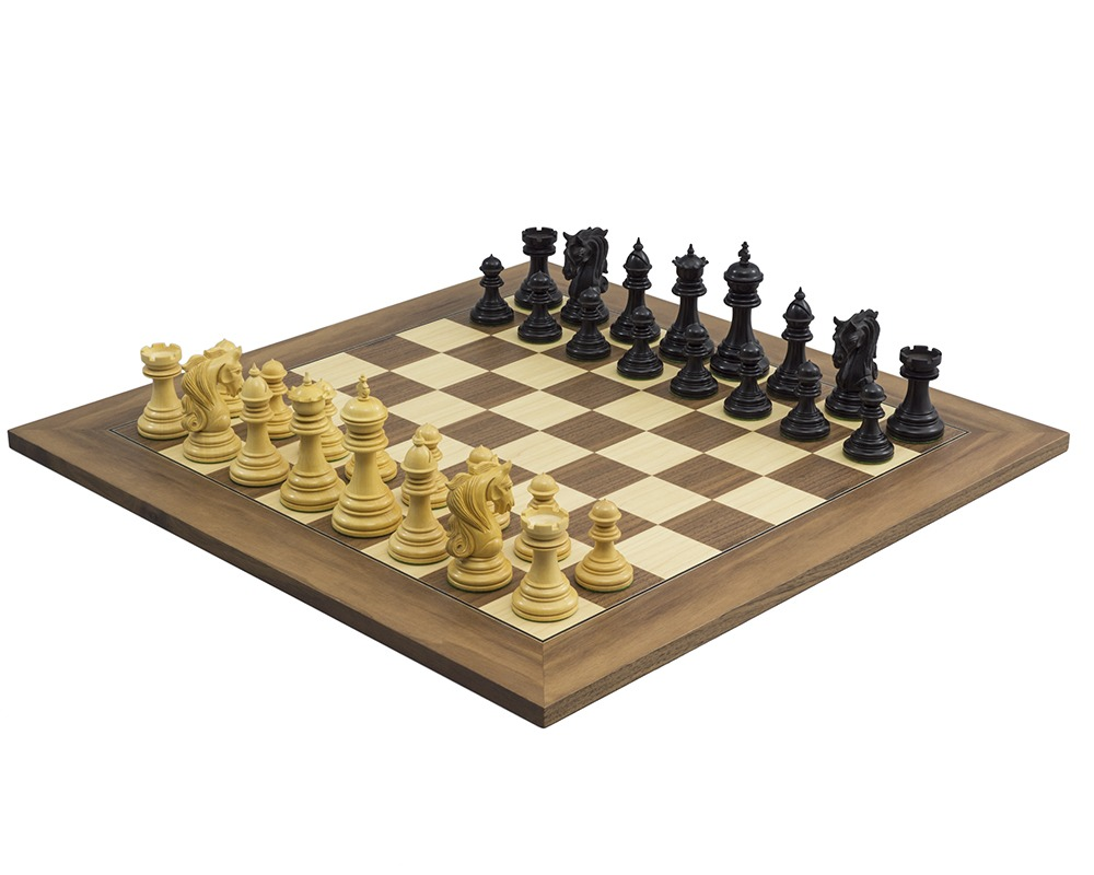 The Kingsgate Ebony and Walnut Chess Set