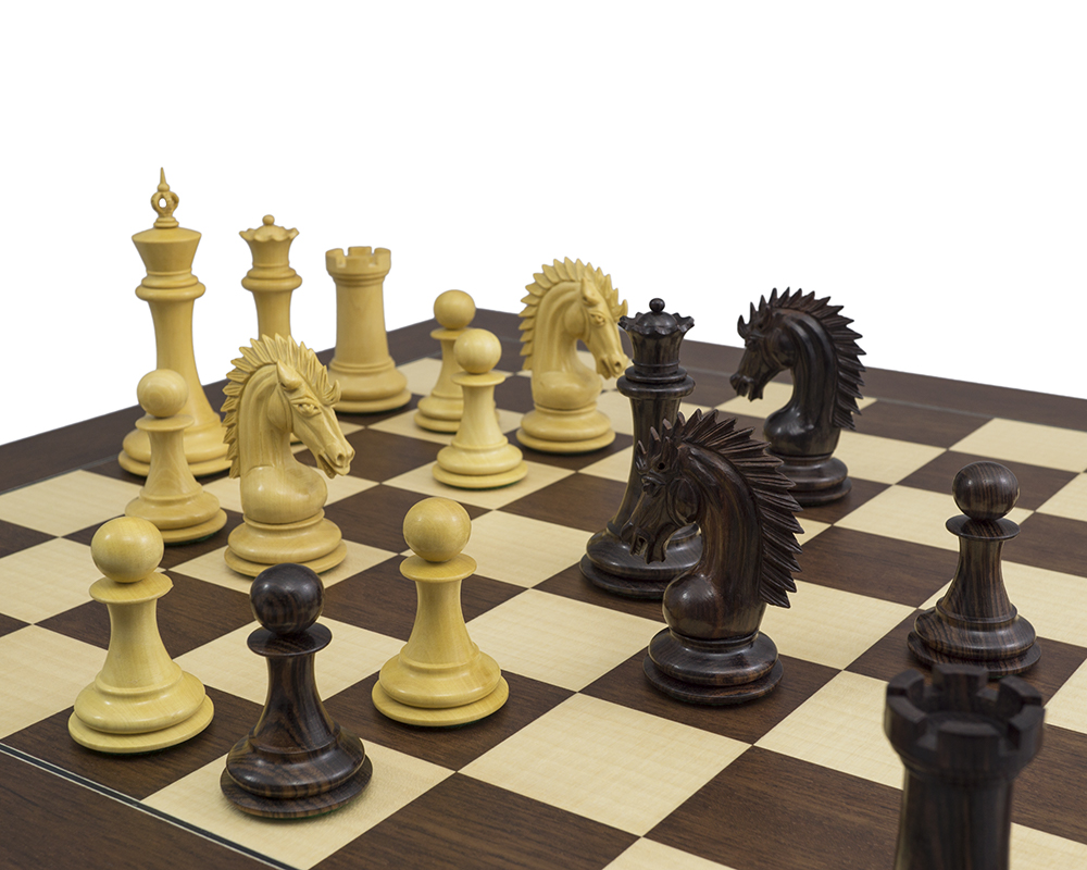 The Sheffield Knight Rosewood Palisander Chess Set