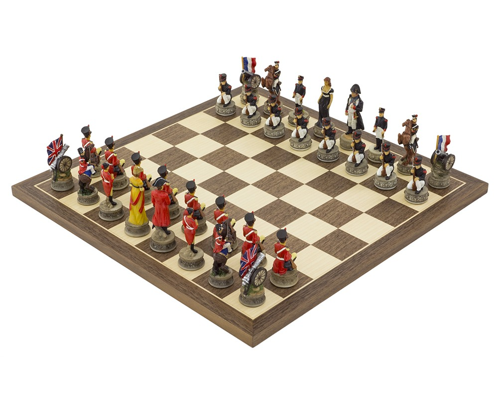 Battle of waterloo Hand painted themed Chess set by Italfama