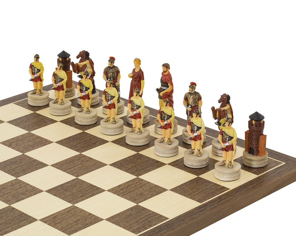 The Romans Vs Greeks hand painted Chess set by Italfama