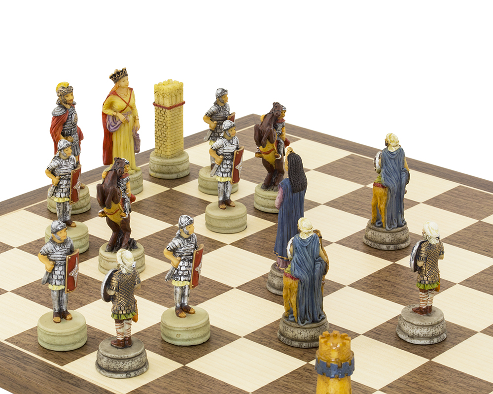 The Romans Vs Arabs Hand painted themed Chess set by Italfama