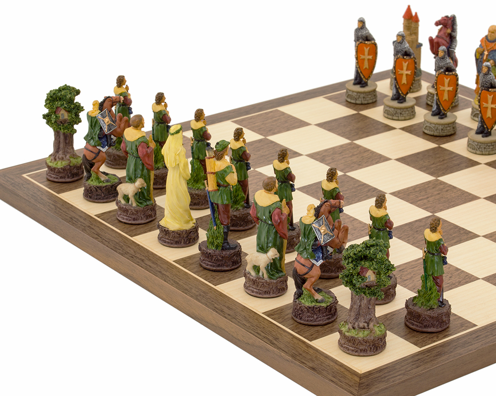 The Robin Hood Hand painted themed Chess set by Italfama