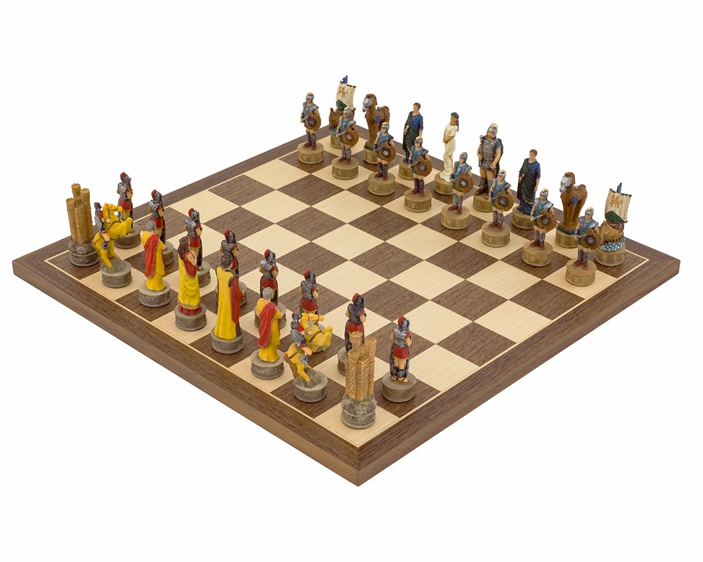 The Battle of Troy Hand painted themed Chess set by Italfama