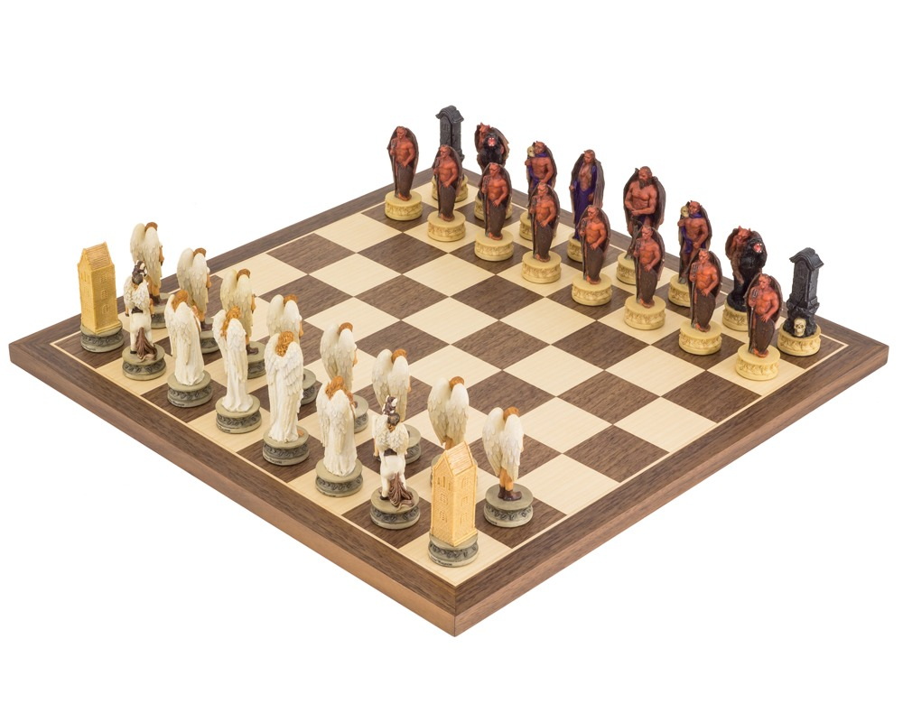 The Angels Vs Devils Hand painted themed Chess set by Italfama