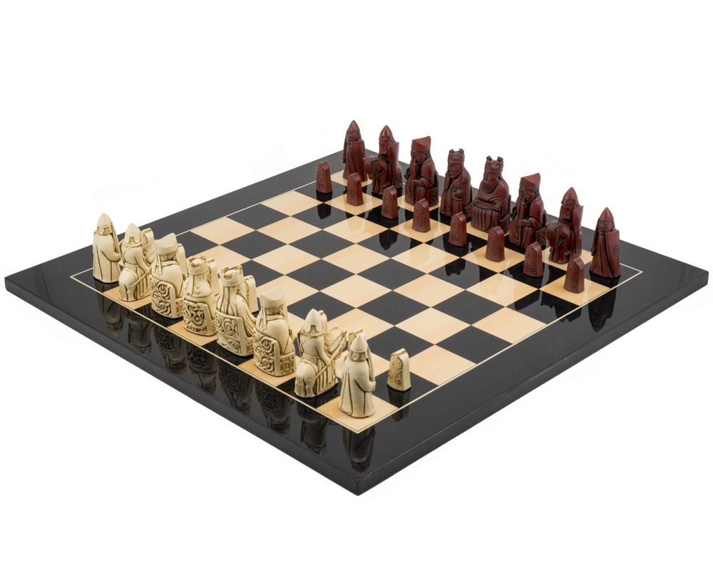 The Isle of Lewis Black Cardinal Chess Set