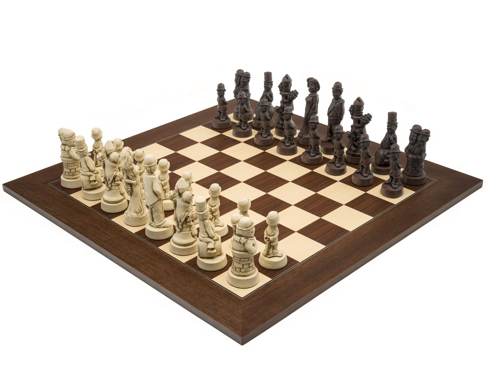 The Berkeley Chess Movie Stars Russet And Palisander Grand Chess Set Rcpb397 The