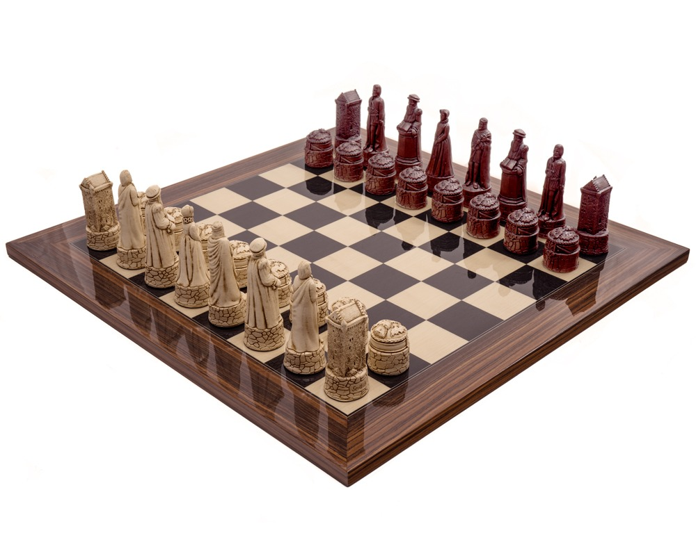 The Berkeley Chess Scottish Russet Palisander Chess Set
