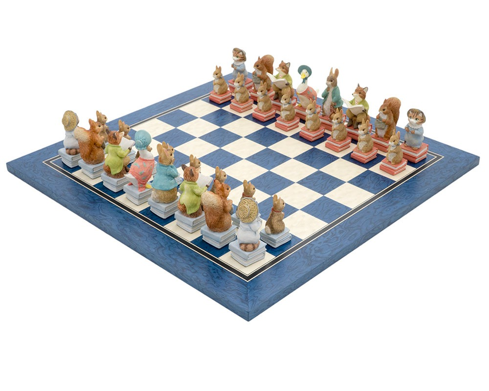 Peter Rabbit Stone Resin Chess Set