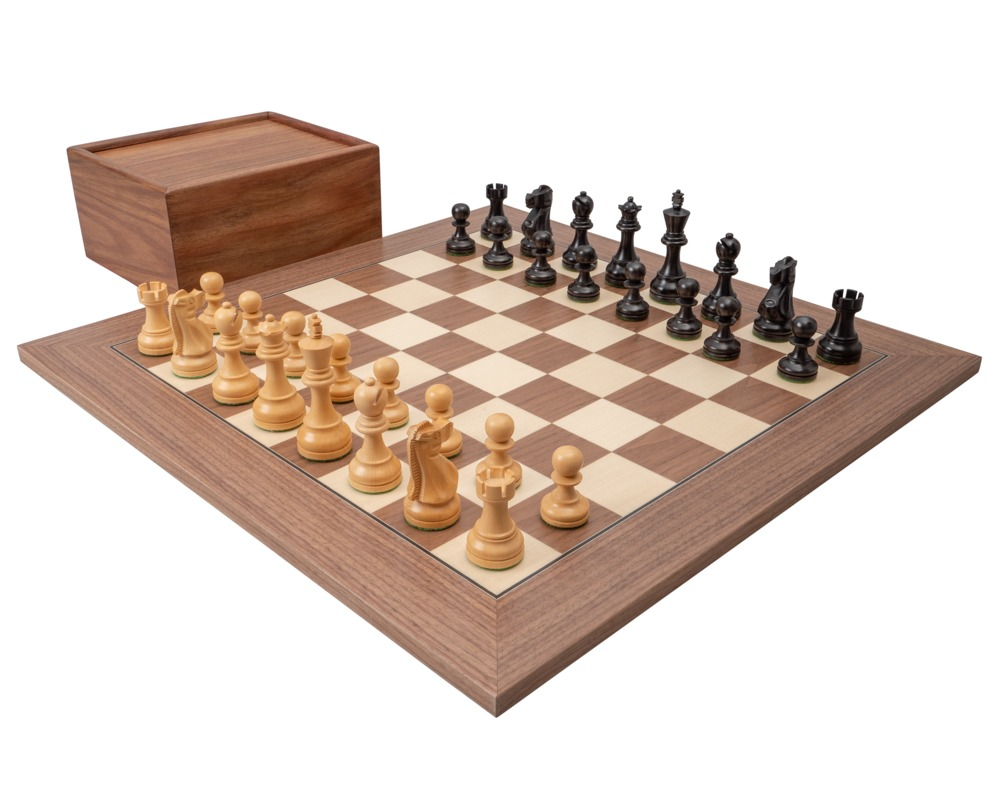 The Levisham Black and Walnut Chess Set