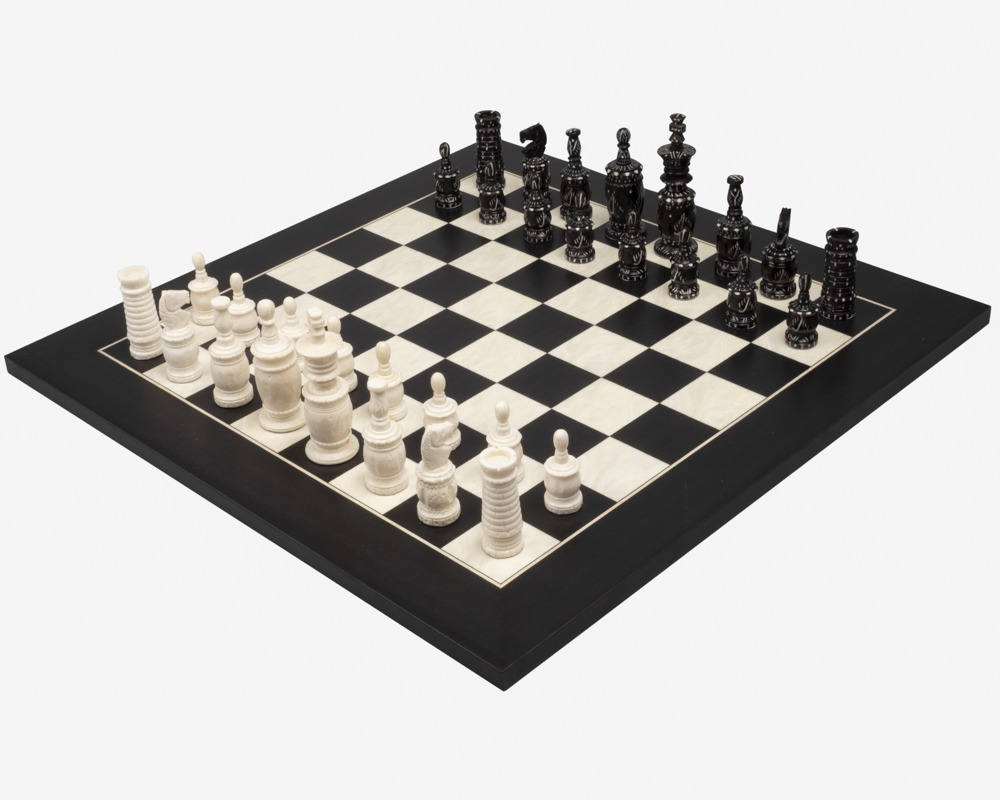 The Barley Corn and Black Deluxe Chess Set