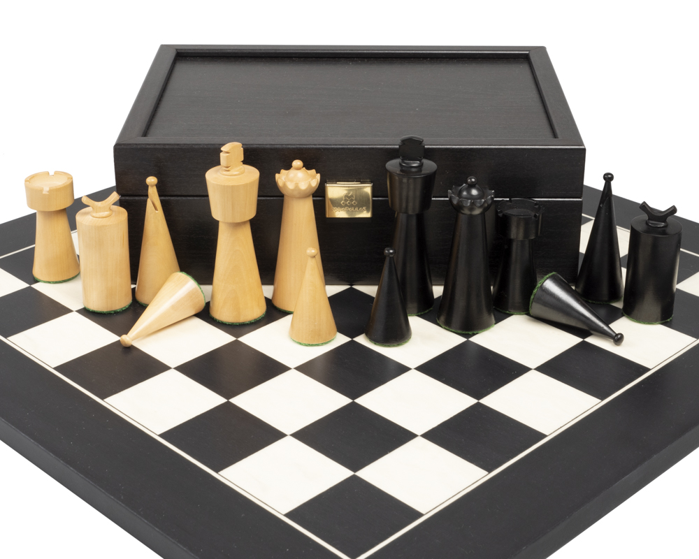The Art Deco Black Chess Set