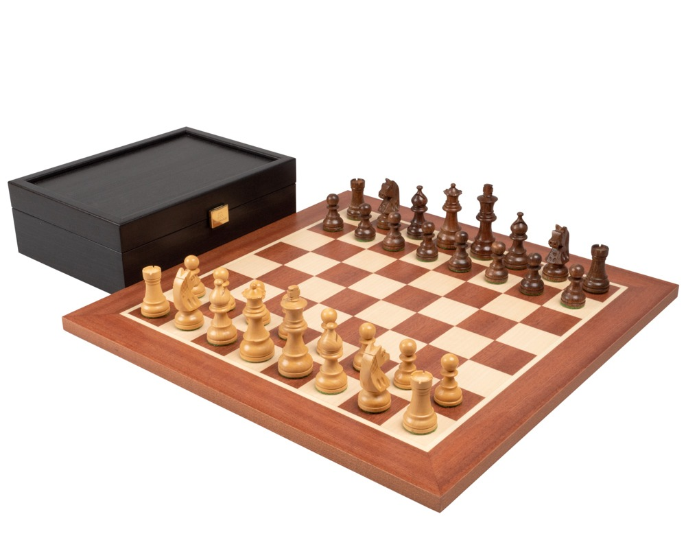 The Down Head Acacia Championship Chess Set