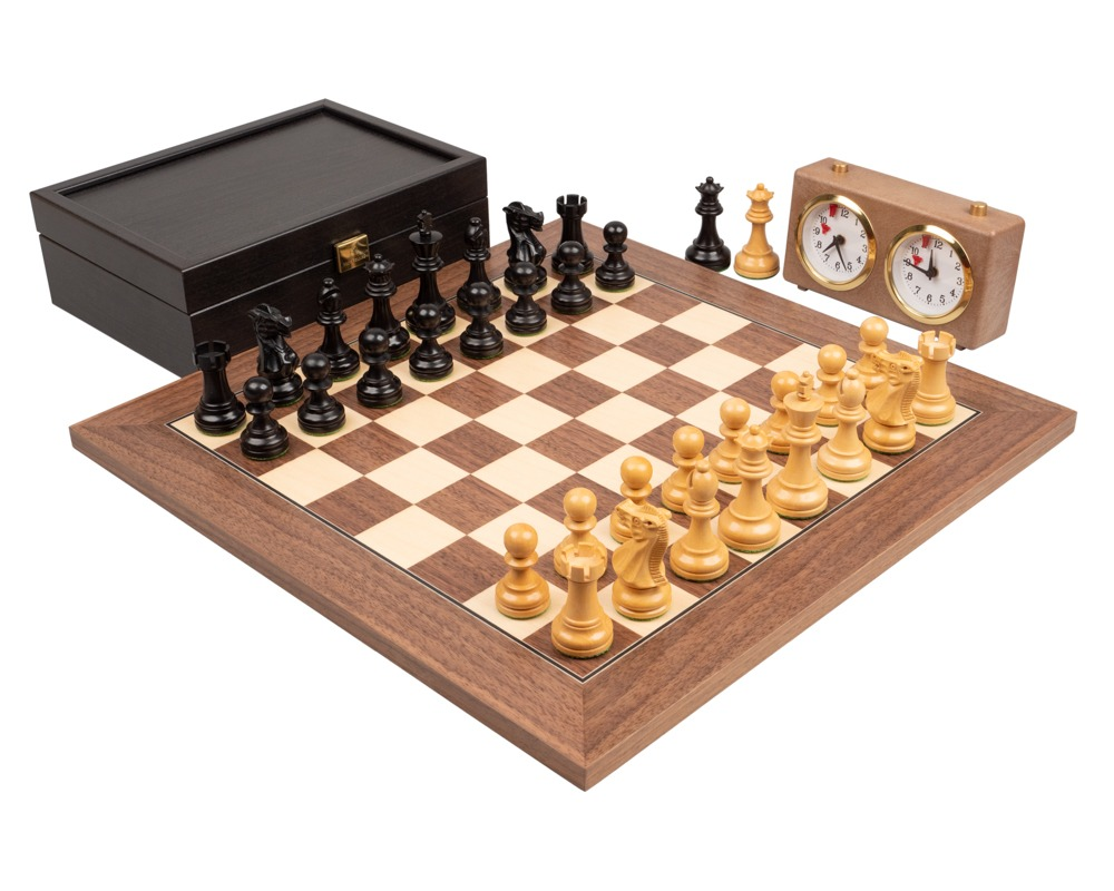 The Executive Walnut Deluxe Chess Set