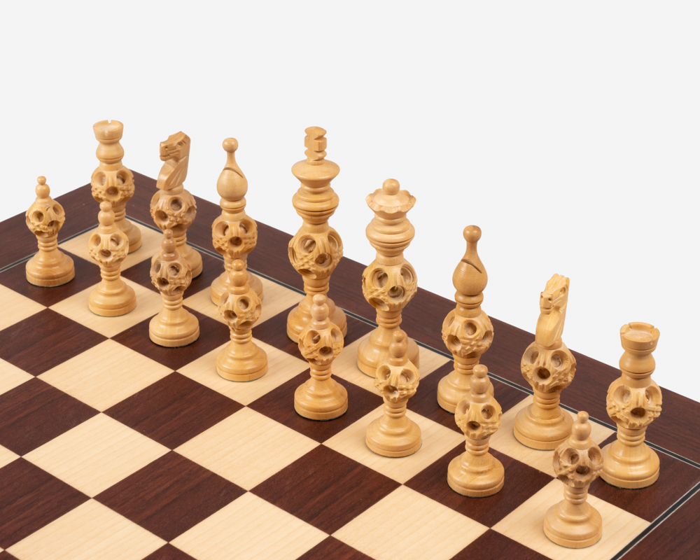 The Concentric Rosewood and Montgoy Chess Set