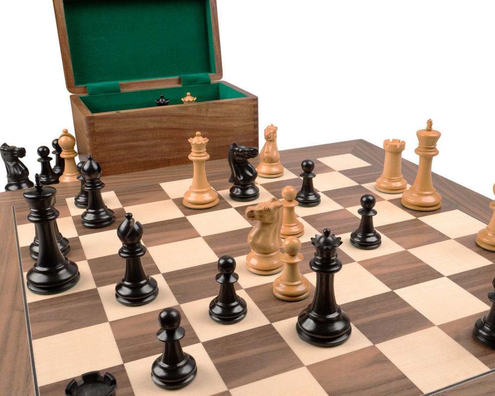 The 1869 Reproduction Staunton Ebony and Walnut Grand Luxury Chess Set