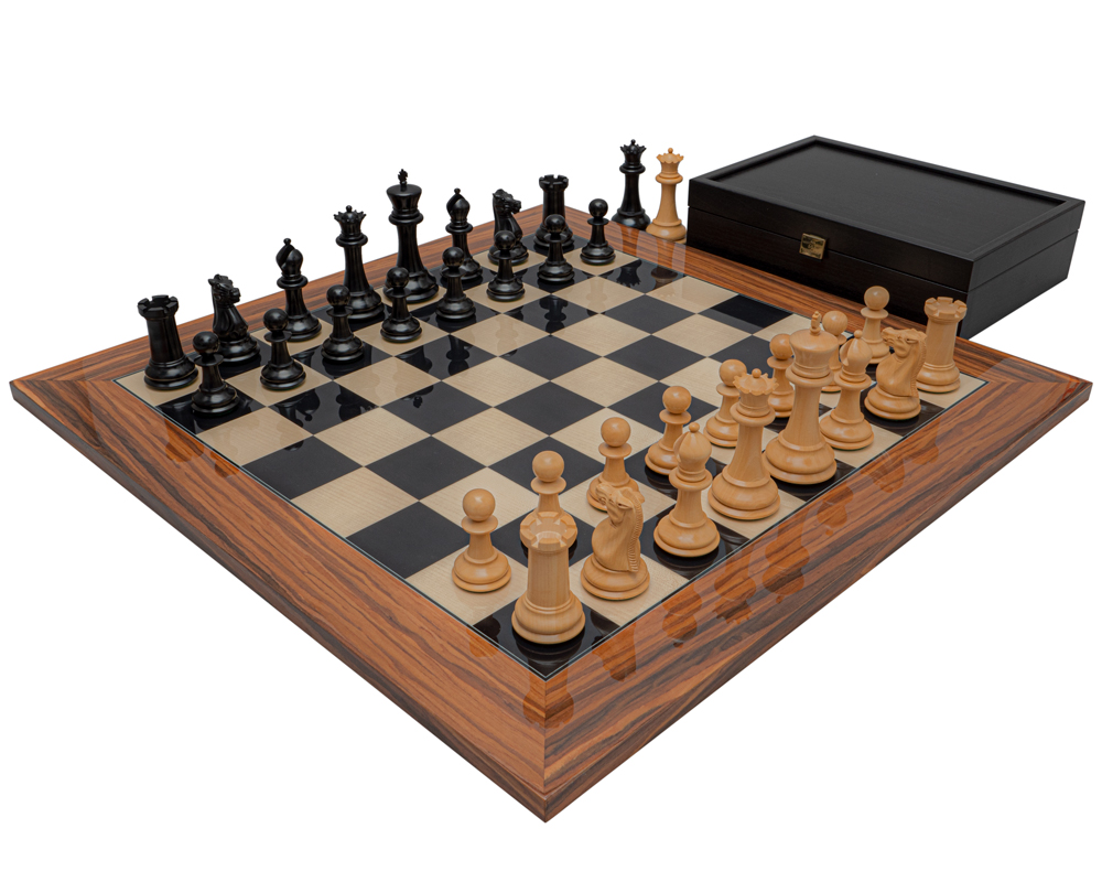 The 1849 Reproduction Staunton Ebony and Palisander Luxury Chess Set