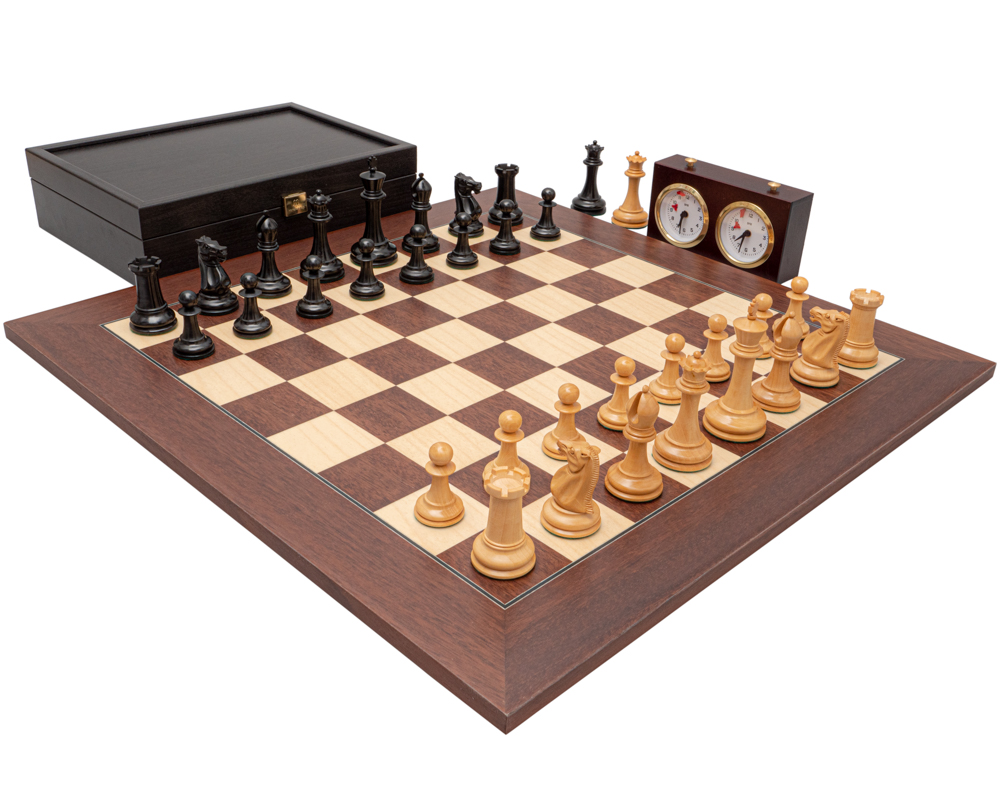 The 1853 Paulsen Reproduction Ebony and Montgoy Palisander Luxury Chess Set
