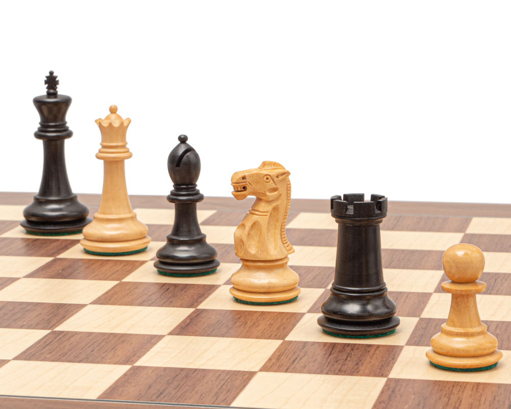 The Warwick Grand Black and Walnut Chess Set