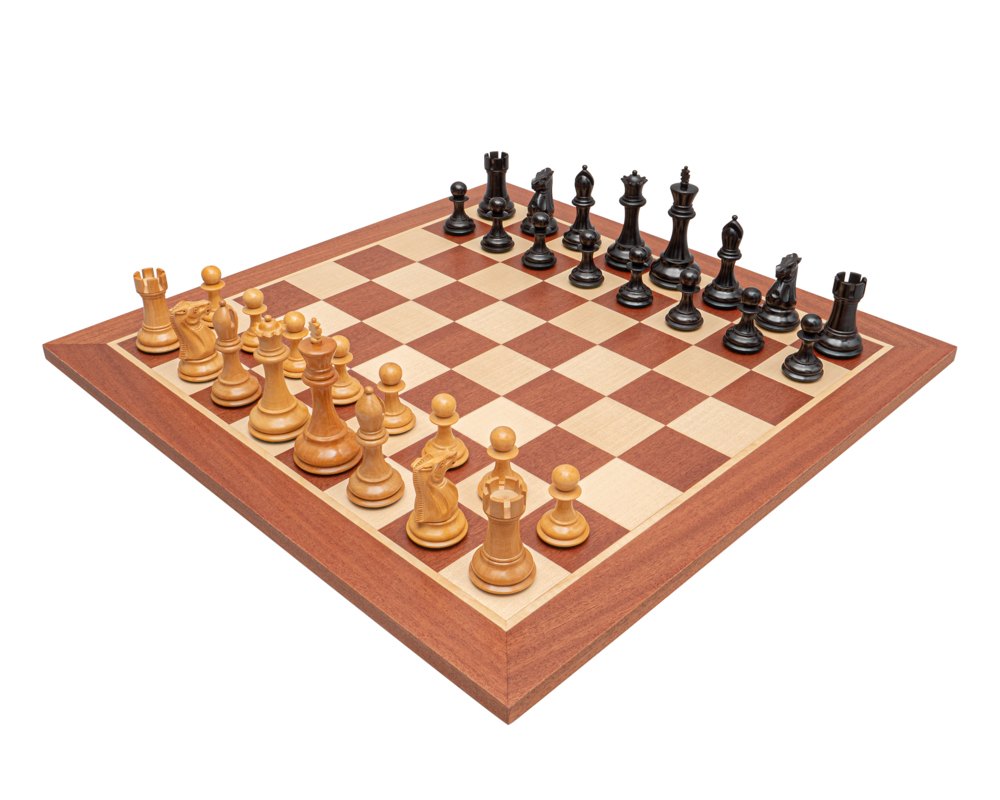 The Abingdon Black and Mahogany Chess Set