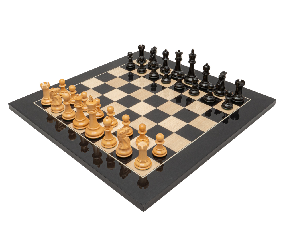 The 1972 Reproduction Ebony Luxury Chess Set