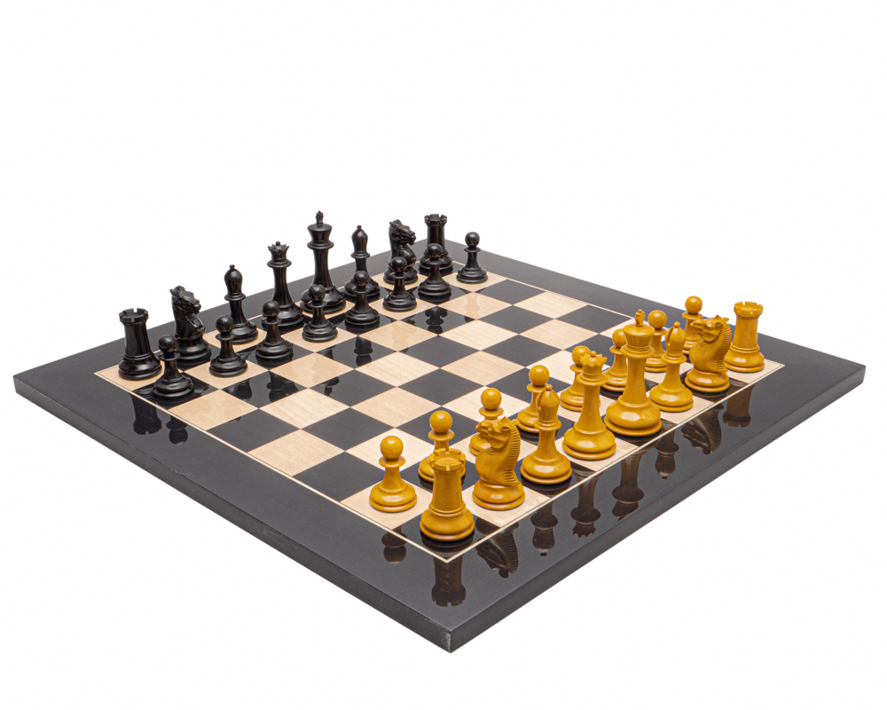 The Harrwitz Black and Anegre Staunton Chess Set